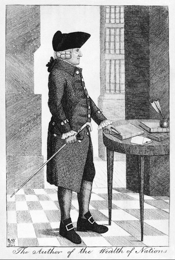 Grafika przedstawiająca Adama Smitha (fot. domena publiczna)