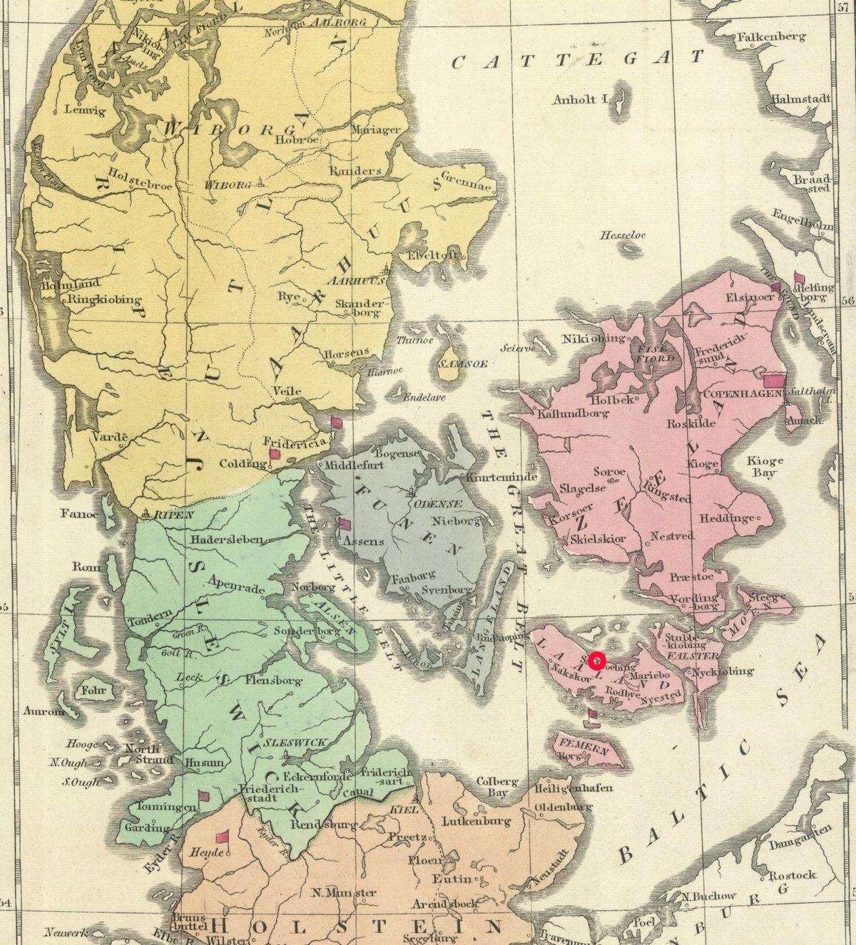 Rejs do duńskiego Bandholm (zaznaczone na mapie czerwonym kółkiem) miał trwać maksymalnie dwa dni. Rzeczywistość okazała się jednak zupełnie inna.