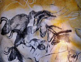 Paleolityczne malowidła ścienne z jaskini Chauveta we Francji