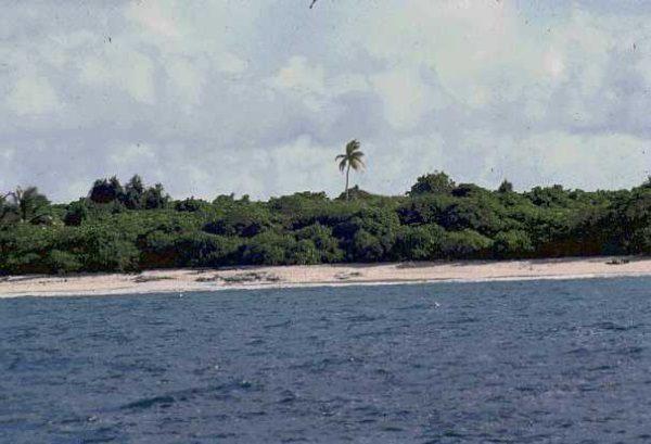 Plaża atolu Bikini, od którego swoją nazwę zaczerpnęli bikiniarze (fot. domena publiczna)