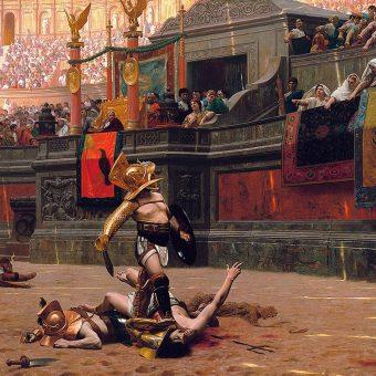 """""""Pollice Verso"""". Obraz Jeana-Léona Gérôme z 1872 roku"""