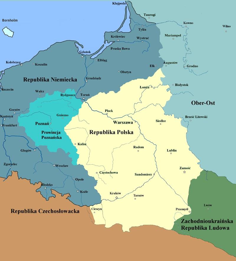 W połowie listopada 1918 roku Prowincja Poznańska nie wchodziła jeszcze w skład odrodzonej Rzeczpospolitej.