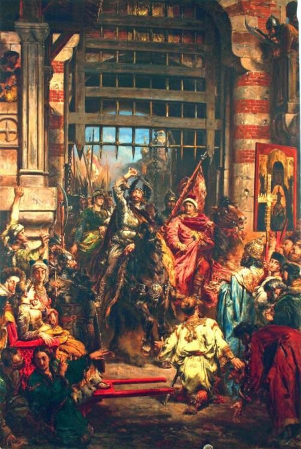 Skoro padają już pytania o Chmielnickiego, już niedługo starający się o prawo pobytu będą musieli wyrazić opinię historyczną na temat wyprawy kijowskiej Chrobrego? (fot. domena publiczna)