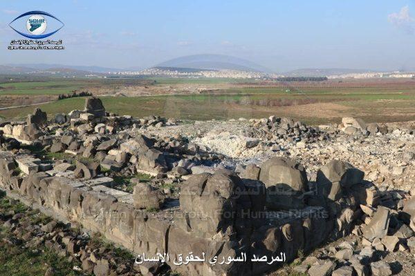 Tak teraz wygląda Ain Dara (zdjęcie opublikowane przez Syrian Observatory for Human Rights)