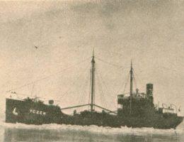 S/s Tczew w lodach Bałtyku.