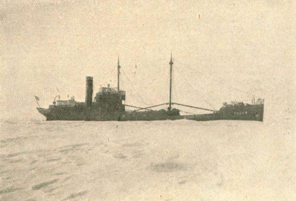 """""""Tczew"""" w loda Zatoki Kilońskiej."""