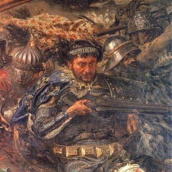 Zawisza Czarny na obrazie Bitwa pod Grunwaldem Jana Matejki