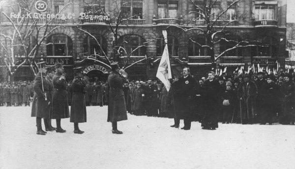 Uroczystość zaprzysiężenia wojsk powstańczych odbyła się 26 stycznia 1919 roku.