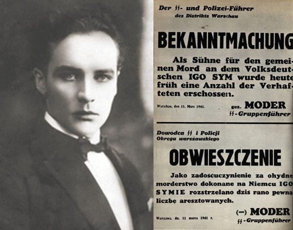"""Niemal od początku okupacji polskie struktury podziemne skazywały kolaborantów na karę śmierci. Jedną z najgłośniejszych spraw tego typu w 1941 roku była egzekucja aktora Igo Syma. Władze niemieckie w odwecie rozstrzelały """"pewną ilość"""" więźniów."""