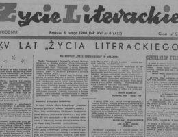 """""""Życie Literackie"""""""