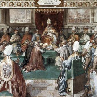 Zakon templariuszy został oficjalnie zlikwidowany podczas soboru w Vienne, któremu przewodził papież Klemens V.