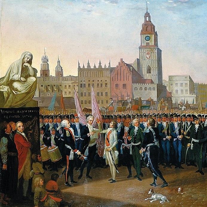 Akt insurekcji ogłoszono na rynku krakowskim.