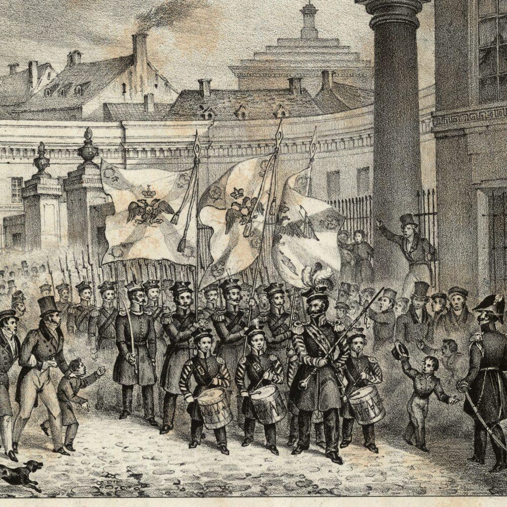 Obnoszenie sztandarów po bitwie pod Wawrem w Wielką Sobotę