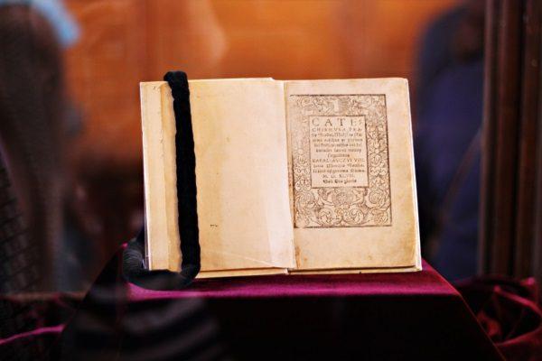 Egzemplarz pierwszej litewskiej książki (fot. Pinkizz, lic. CC BY 2.0)