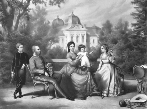 Franciszek Józef z rodziną (fot. domena publiczna)