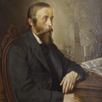 Ignacy Łukasiewicz na portrecie autorstwa Andrzeja Grabowskiego.