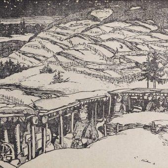 """Ilustracja z publikacji """"Bitwa pod Łowczówkiem"""" (1916)"""