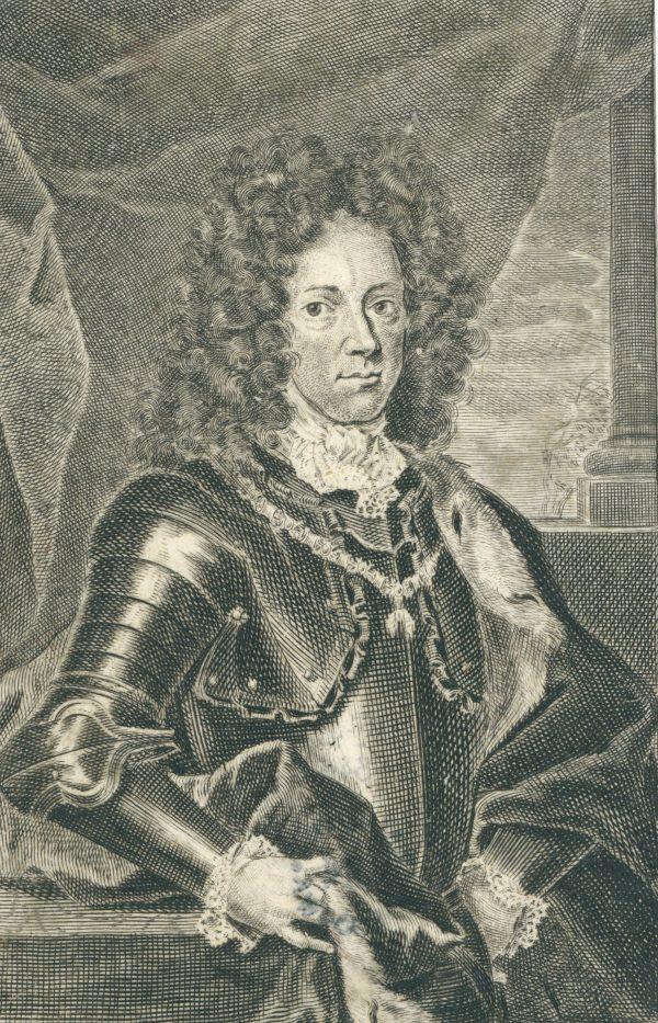 Jakub Ludwik Sobieski - miedzioryt, XVIII wiek