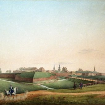 Twierdza w Zamościu, lata 20. XIX wieku, według Jana Pawła Lelewela