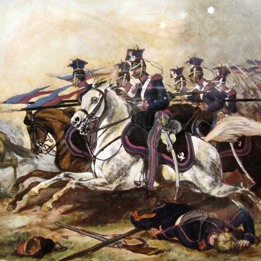 Juliusz Kossak – Szarża jazdy poznańskiej pod Rajgrodem (1886)