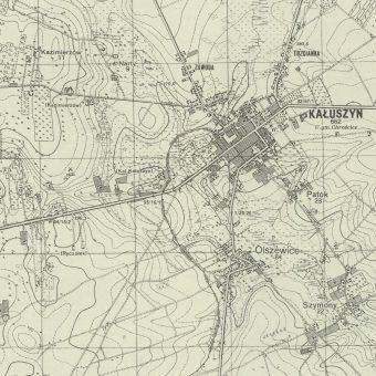 Kałuszyn na późniejszej mapie