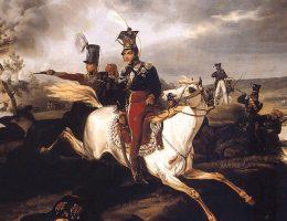 Książę Poniatowski utonął w nurtach Elstery (malował January Suchodolski)