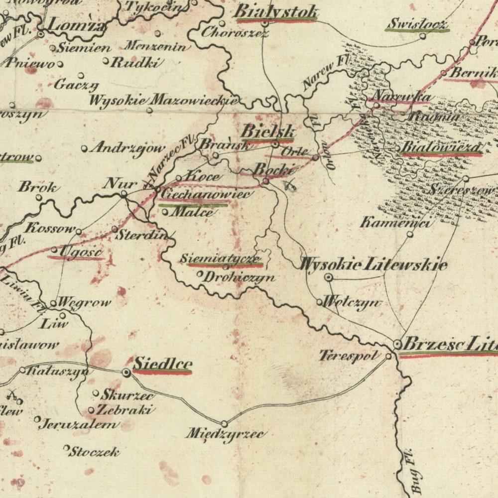Mapa wyprawy H. Dembińskiego
