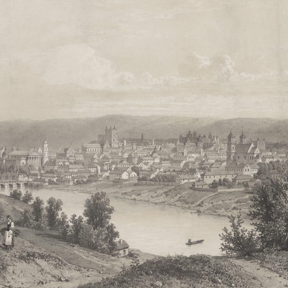 Wilno, widok wzięty ze strony miasta północno-zachodniej