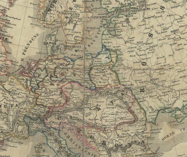 Układ sił w Europie Środkowej około roku 1860 (Kogresówka, Cesarstwo Habsburgów, carat i Prusy)