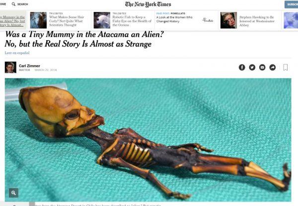 """Mumia Aty. Screem materiału przygotowanego przez """"The New York Times"""""""