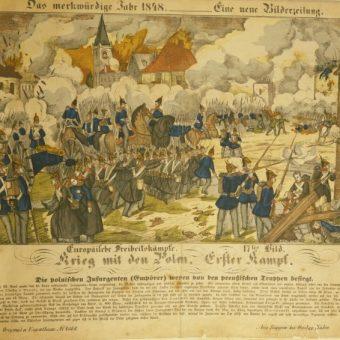 Neuruppiner Bilderbogen, nr 2062 (gazeta z 1848 z artykułem o bitwie)