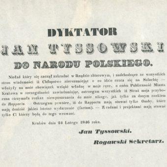 Odezwa dyktatora Jana Tyssowskiego