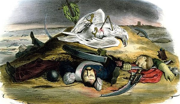 """""""Spokój panuje w Warszawie"""" - ogłosił francuski minister spraw zagranicznych, generał Horace Sébastiani."""