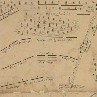 Plan bitwy w Olszynce Grochowskiej
