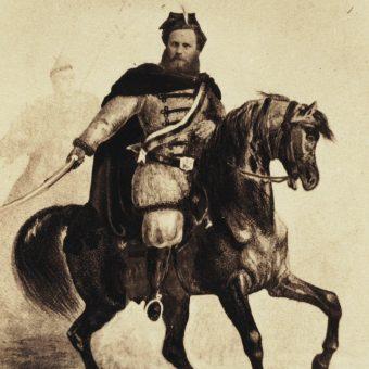 Portret konny Ludwika Mierosławskiego