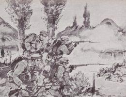 Potyczka pod Jędrzejowem (ilustracja z początku XX wieku)