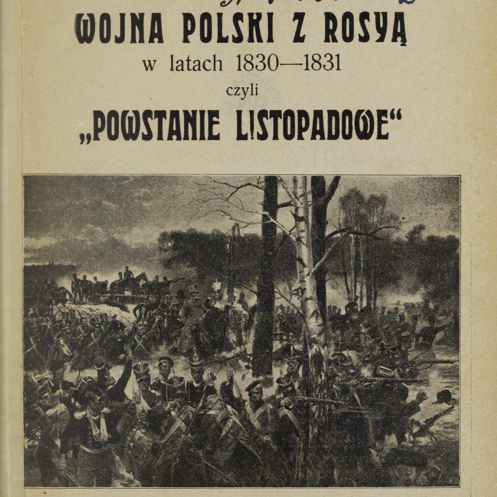 Powstanie listopadowe (okładka publikacji z 1912)