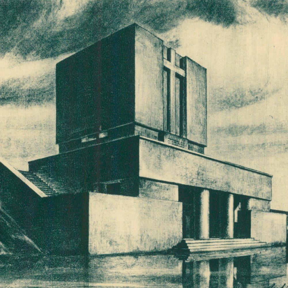Projekt Pomnika Bohaterów Poległych w roku 1831 pod Ostrołęką (projekt z 1930, zrealizowany ostatecznie w 2012)