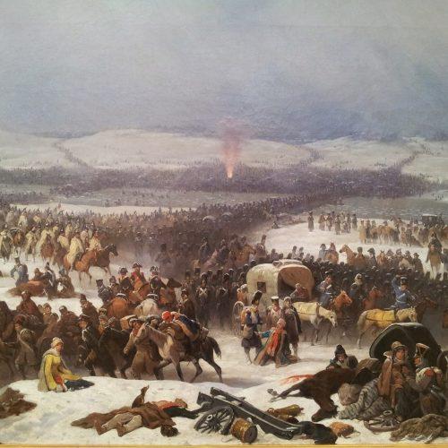 Przejście armii Napoleona przez Berezynę (obraz Januarego Suchodolskiego)