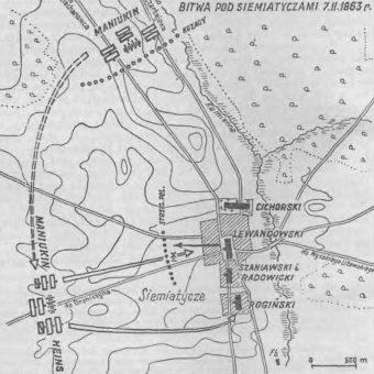 Plan bitwy pod Siemiatyczami