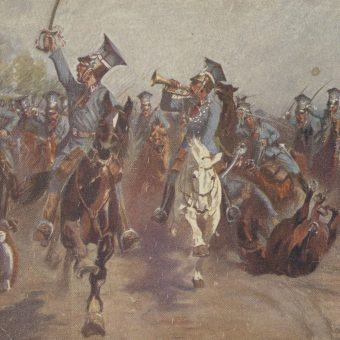 Szarża pod Rokitną (pocztówka z roku 1919)