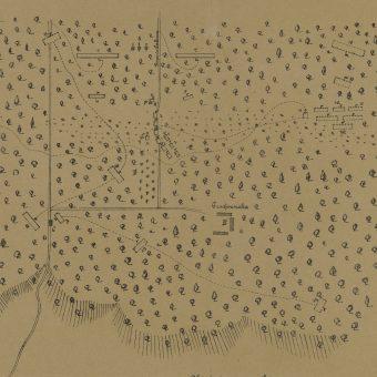 Szkic bitwy pod Grochowiskami (1890)
