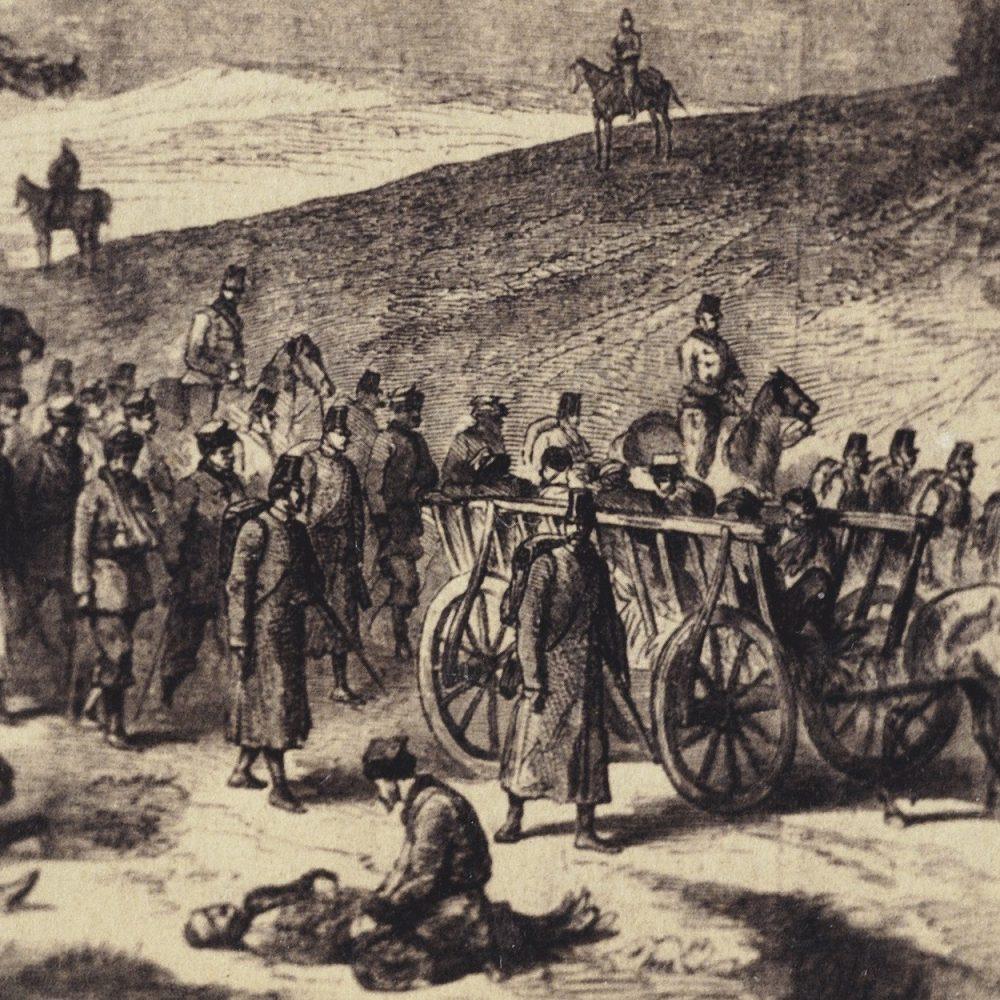 Transport rannych powstańców styczniowych