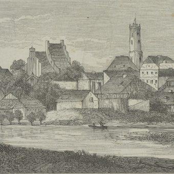 """Widok Kola (wycinek z """"Kłosów"""" z 1874 r.)"""