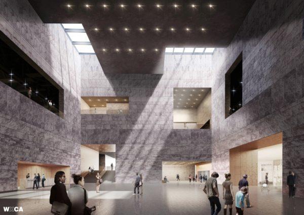 Wizualizacja wnętrza muzeum