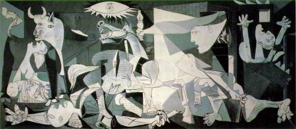 """Słynna """"Guernica"""" Picassa została zamówiona i opłacona w kwocie 200 tysięcy peset przez republikański rząd, celem wystawienia go w hiszpańskim pawilonie podczas wystawy światowej w 1937 roku w Londynie."""