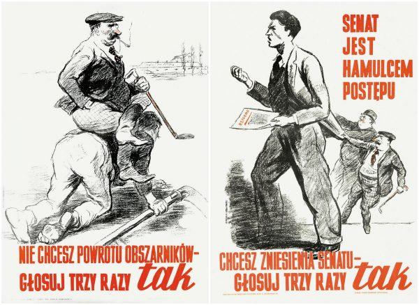 Plakaty autorstwa Mieczysława Bermana.