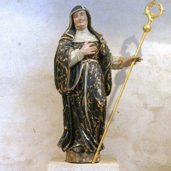 Św. Brygida z Kildare, jedna z najważniejszych irlandzkich świętych (fot. Elke Wetzig Elya, lic. CC BY-SA 3.0)