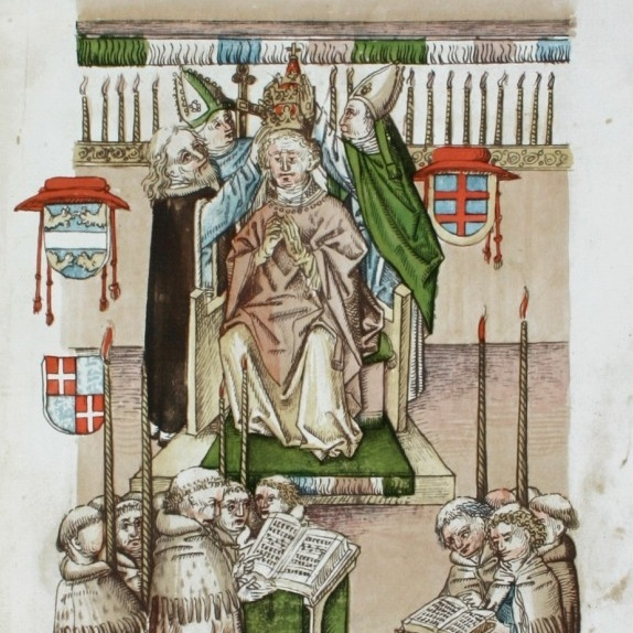 Wielką schizmę zachodnią zakończył wybór papieża Marcina V w 1417 roku.