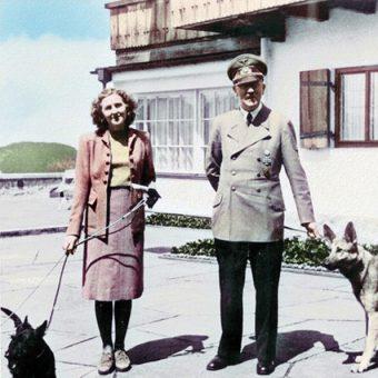 Adolf Hitler i Eva Braun byli związani od 1932 roku, jednak ślub wzięli dopiero na dzień przed śmiercią.